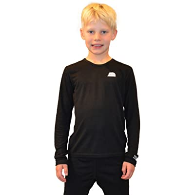Zemu Youth Solid First Layer Long Sleeve Crewneck