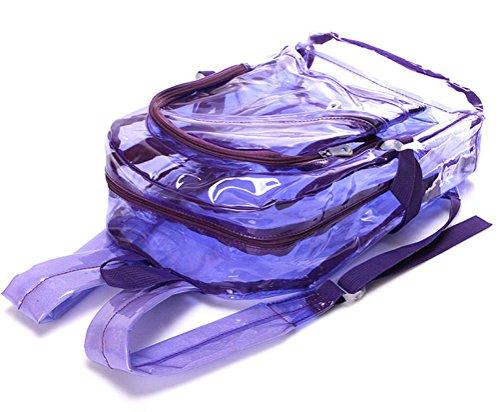 MILATA - Bolso mochila  de pvc para mujer rosa