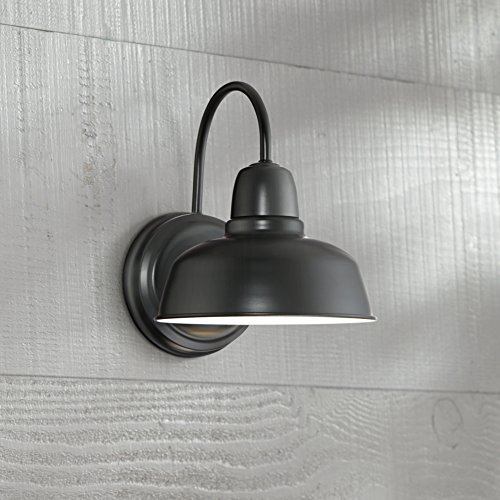 Urban Barn 11 1/4'' High Black Indoor-Outdoor Wall Light by John Timberland (Image #1)
