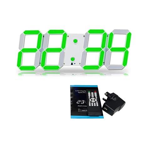 Tocas T 44 cm, diseño de cerezas número de pared digital de luz LED-Reloj de ...