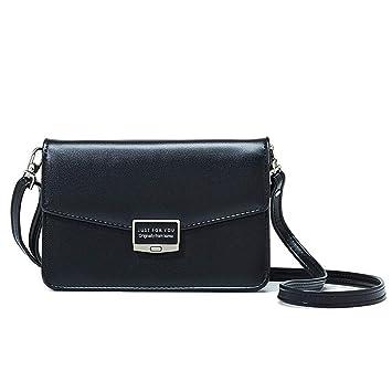 ab2145bee4944 Damen Handy Umhängetasche Kleine Geldbörse Portemonnaie Leder Mini  Handtaschen für Mädchen Universal Handytasche Umhängen Kleine Tasche