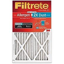 Filtrete MPR 1000D 16 x 25 x 1 Micro Allergen PLUS DUST AC Furnace Air Filter, 6-Pack