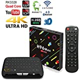 APES H96 MAX 64GB/4GB Android 7.1 Quad Core 1080p 4K 3D Rockchip RK3328 Dual Wifi 5G Bluetooth 4.1 TV Box + Touchpad Wireless Keyboard Remote