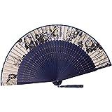 [Chinese & Japanese] Retro Silk Hand Fan Portable Folding Fan Handheld Fan NO.01