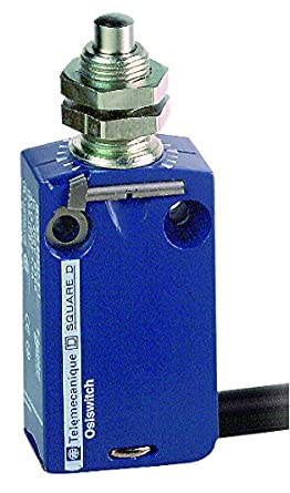 Metal Body Telemecanique XCMD OsiSense XC Standard Limit Switch 1 NO and 1 NC Snap-Action Silver Contacts M12 Roller Plunger 4-Pin M12 Male Connector
