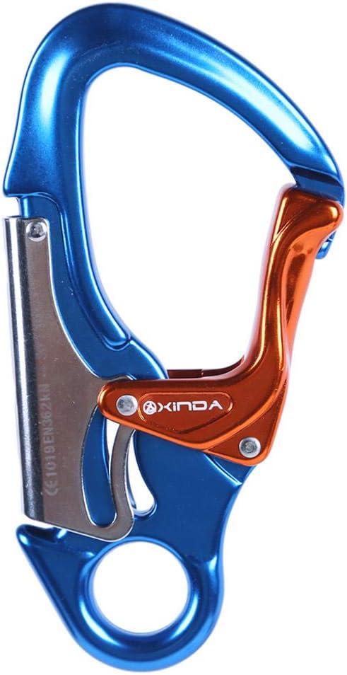 アウトドア カラビナ アルミニウム クライミング マスターロック 登山 エアボーン 設備 フライング ラダ 拡張 スパイダー 安全フック ブルー 2 piece