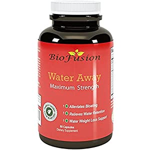 Water Away Diuretic Supplement with Dandelion Leaf - Bloat Relief Pills Weight Loss Relieve Swelling Water Retention - Natural Green Tea Extract Potassium Vitamin B-6 for Men & Women - by Biofusion