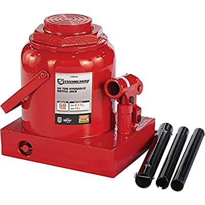 Strongway Hydraulic Bottle Jack - 50-Ton Capacity, 9 1/4in.-14in. Lift Range