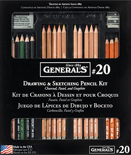 [General Pencil Classic Sketching and Drawing Kit] (Colored Kneaded Art Eraser)