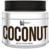 coconut Organic Extra Virgin Coconut Oil by Raw Apothecary- All-Natural Cooking Oil, Beauty Remedy and Hair Care Product (16.9 Ounces)