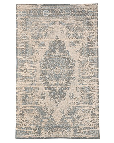 NaturalAreaRugs Antelope Vintage Turkish Polyester Cotton Rug, Traditional, Durable, Non-Slip Latex Backing, Eco-Friendly, Multi Color (5 Feet X 8 Feet) For Sale