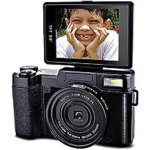 SEREE HD Digital Camera Camcorder Full HD 1080p 24.0 Megapixels 4x Digital Zoom 3 Inch LCD Screen Flashlight