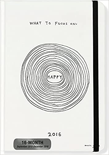 2016 what to focus on weekly planner 16 month engagement calendar