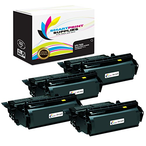 Smart Print Supplies 12A6865 Lexmark T620 T622 Premium Black 4-Pack Compatible Toner Cartridge Replacement (30,000 Pages)