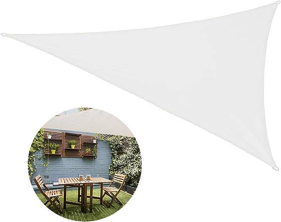JIAYOYO Sun Shade Sail Triangle para Patio Patio Patio Pérgola Sun ...