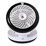 Mini Rechargeable Coolingt Table Desk Fan,Kokome Portable Rechargeable USB Mist Diffuser Humidifiers Air Purifier Fan Multi Speeds Water Spray Hydrating Air Conditioning Replenishment