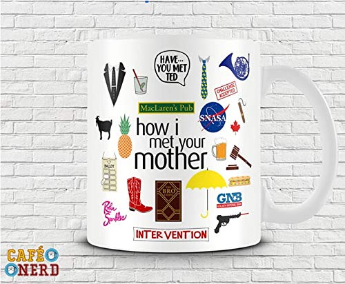 CANECA HOW I MET YOUR MOTHER SÍMBOLOS