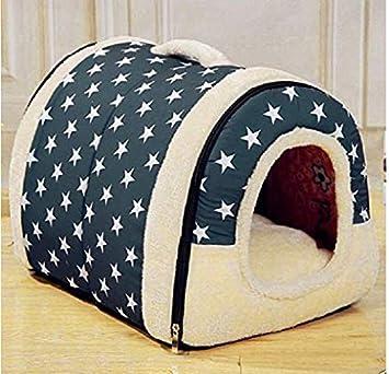 Tb_koop - Cojín desmontable para caseta de mascotas (1 unidad) large Navy Blue L: Amazon.es: Productos para mascotas