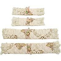 Buorsa 2Pairs Refrigerator Door Handle Covers Protective Electrical kitchen Appliances Gloves,(Long+Short)