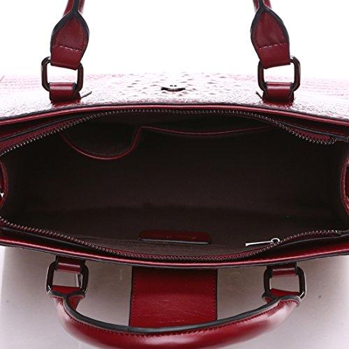 à épaule Bandoulière Sac A à Sac en rouge portés Main Fabriqué KAXIDY Cuir Noir Sacs portés Cuir Sac Sacs Main Vin Femme 5qAnxTBwpg