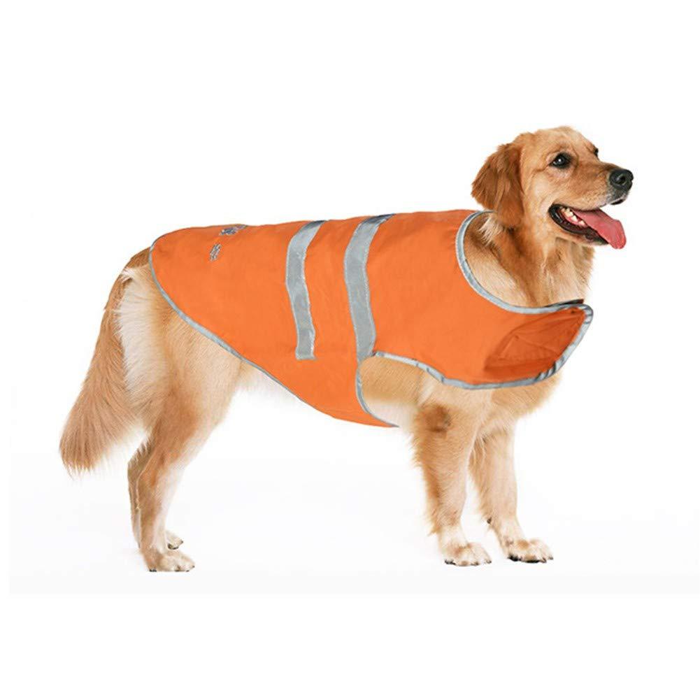 Ardorlove Chubasquero para Perros de Alta Visibilidad para Caminar Correr Senderismo Mascota Nylon Reflectante Cierre el Chaleco