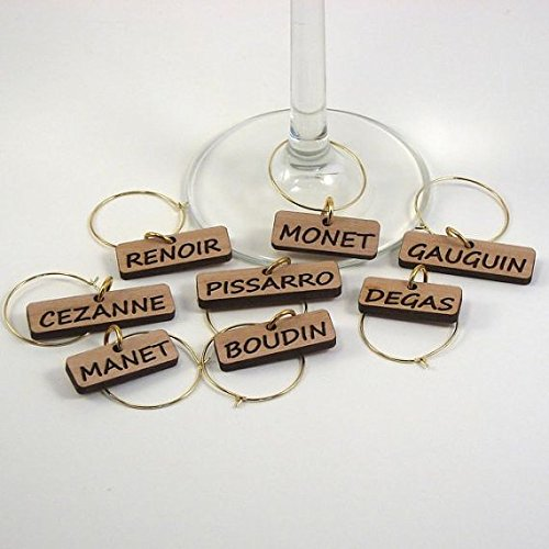 Wine Glass Charms - French Impressionists by Shape Foundry