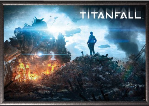 Framed Titanfall - Imc Pilot Pile 36x24 Dry Mount Poster Sil