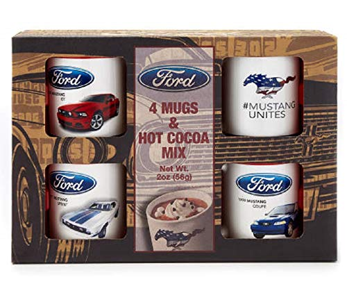 """""""Ford Mustang"""" Classic Ford Ceramic Mug Coffee Cup Gift Set"""
