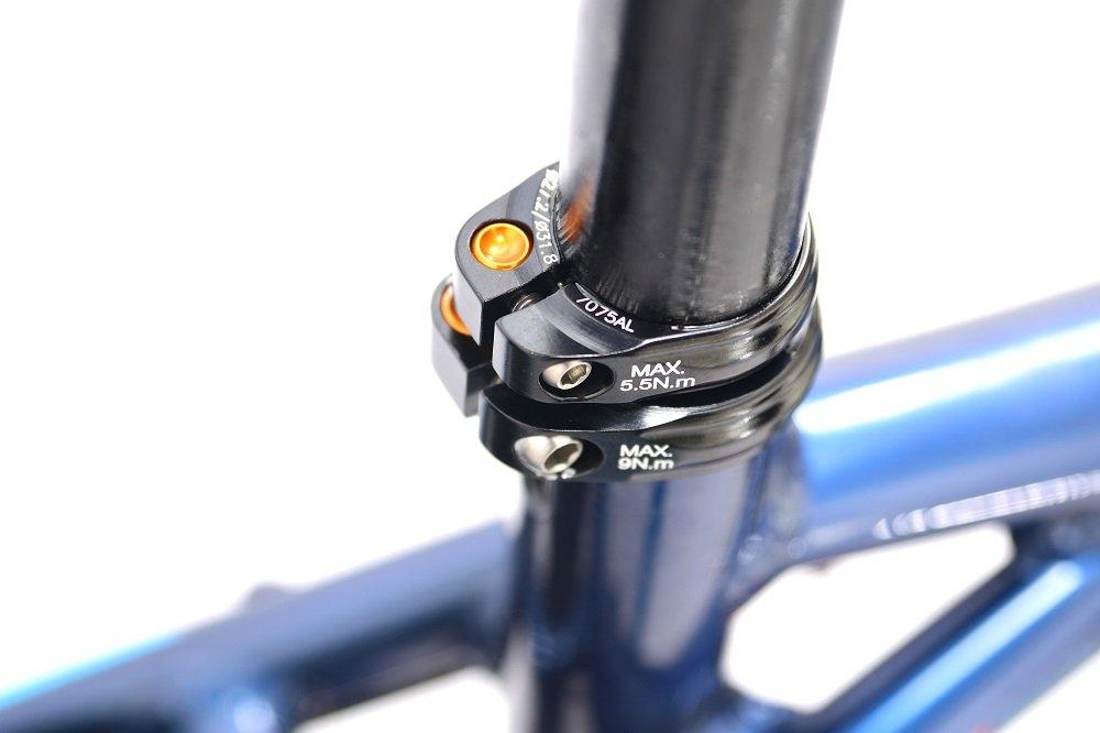 KCNC SC-13 Twin Seatpost Clamp 34.9-31.6mm Alloy Bike Black