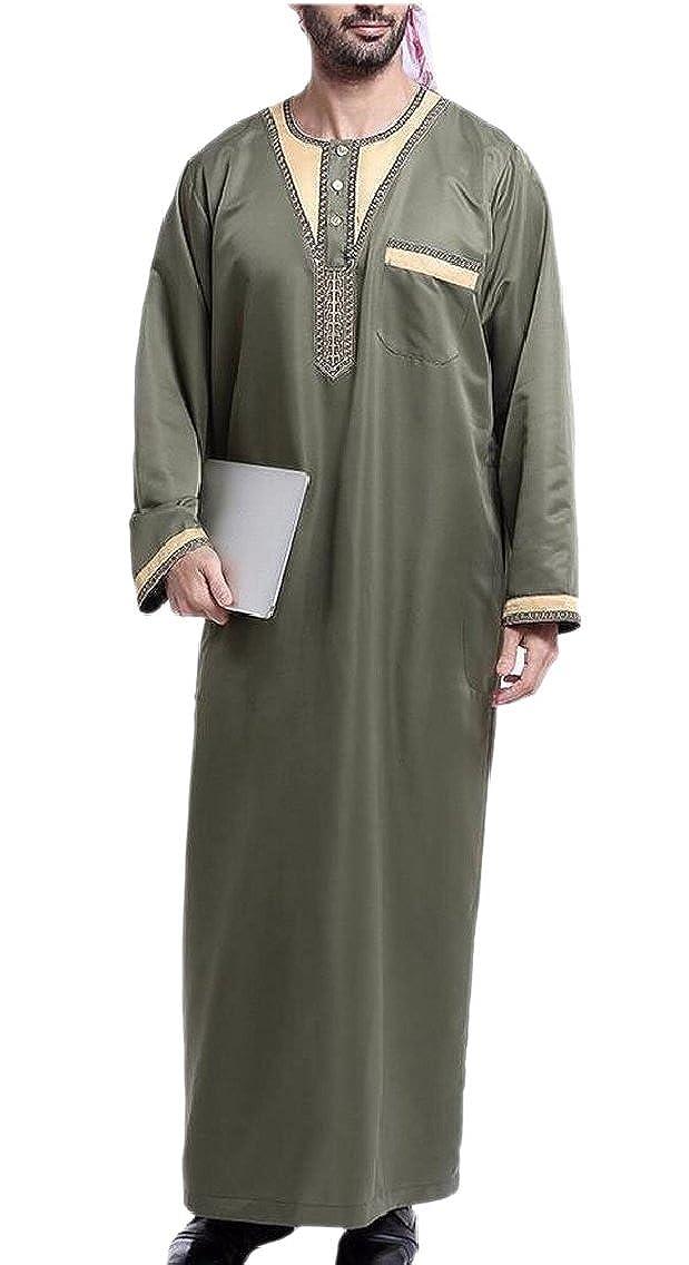 Yayu Men Islamic Muslim Daffah Dishdasha Arab Kaftan Abaya Robe