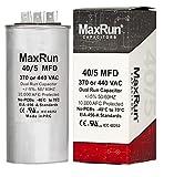 MAXRUN 40+5 MFD uf 370 or 440 Volt VAC Round Dual