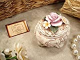 Capodimonte Jewelry Box w/Colorful Roses & Flowers Bridal Shower and Wedding Favors