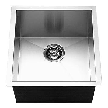Houzer CTR 1700 Contempo Series Undermount Stainless Steel Bowl Bar/Prep  Sink