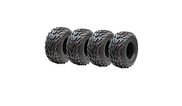 Cuatro neumáticos 16x8.00-7 cuádruple, 16 x 8-7 ATV E marcó el neumático de carretera legal 7 pulgadas: Amazon.es: Coche y moto