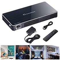 Mini Portable DLP Projector 3D HD 120 Display HDMI USB WiFi Bluetooth 8G Support 1080P | Sharpness Language Setting Airplay Application Download Outdoor Indoor Home Office Camping US Delivery