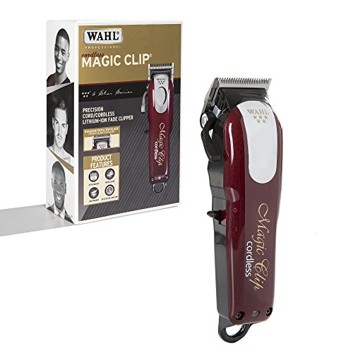 Wahl Professional 5-Star Cord/Cordless Magic Clip #8148 – Great for Barbers and Stylists – Precision Cordless Fade Clipper Loaded with Features – 90+ Minute Run (Wahl Clippers And Trimmers)