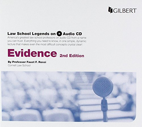 Law School Legends Audio on Evidence (Law School Legends Audio Series) by Gilbert
