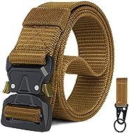 WONDAY Tactical Belt,1.5 Inch No Holes Quick Release Heavy Duty Tactical Belt for Men and Women-Tactical Belt