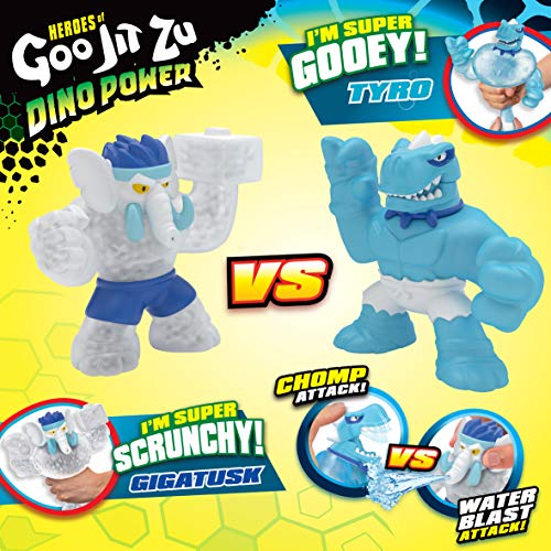 Heroes of Goo Jit Zu Dino Power Versus Pack Versus Pack - 2 Action Figures - Artic Showdown - Tyro Vs Gigatusk