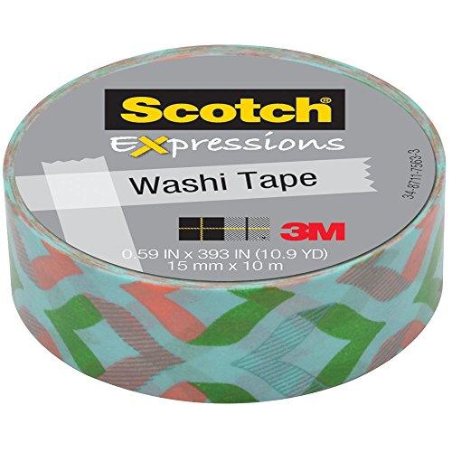 Mint 393 (3M Washi Tape .59X393 (15mmx10m)-Peachy Mint)