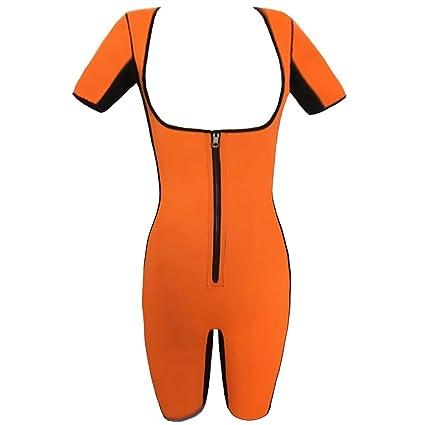 Courtes Minceur Manches Néoprène Evedaily Vêtements Fitness De Sudation Sport En Poids Perte Femme Combinaison vOnwNm80