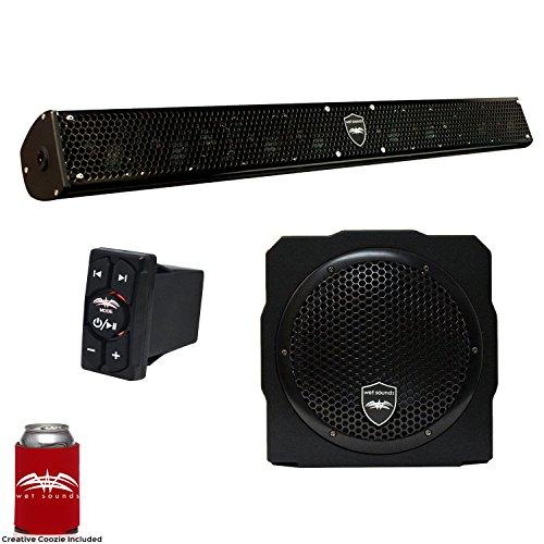 Wet Sounds Stealth 10 Surge Sound Bar w/WW-BTRS Bluetooth Ro