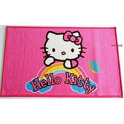 Disney Tappeto Cameretta Hello Kitty Arcobaleno 50x80 Gl 502 Amazon