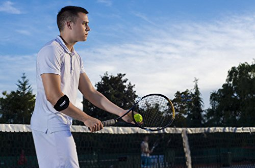 Tennis Golfers Elbow Brace for Tendonitis Treatment, Elbow Strap with Compression Pad, Tennis Elbow Pain Relief Support for man and woman + Drawstring Carrying Bag by Essencell (Image #3)