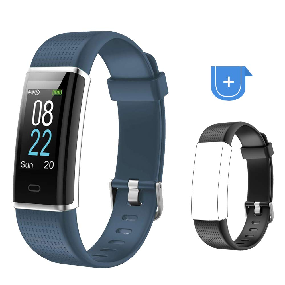 YAMAY Fitness Tracker Heart Rate Monitor Watch,IP68 Waterproof Activity Tracker Color Screen Sport Watch with Sleep Tracker Step Counter 14 Sports Mode,Smart Fitness Watch for Kids Men Women by YAMAY