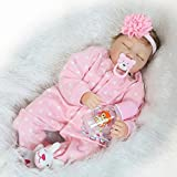 Pinky Realistic 22 Inch 55cm Soft Dolls Vinyl Silicone Handmade Reborn Baby Dolls