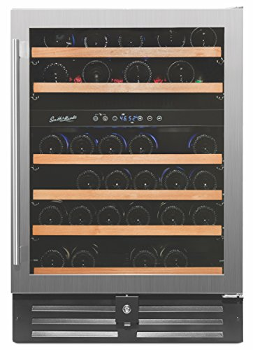 Smith & Hanks 46 Bottle Dual Zone Wine Refrigerator, Stainless Steel Door,...