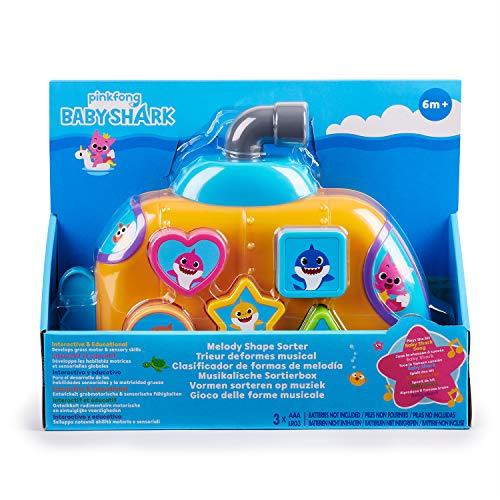 51BK6eQsMKL - WowWee Pinkfong Baby Shark Melody Shape Sorter - Preschool Toy