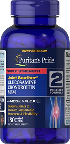 - Puritan's Pride Triple Strength Glucosamine, Chondroitin and MSM Joint Soother�, Joint Support Supplement**, 180 Caplets