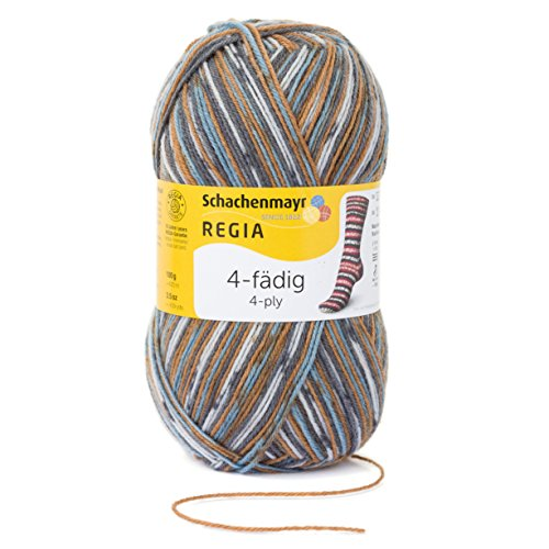(Regia 4-Fadig Color - 4 Ply Sock Coloured 100gm 07710 Snowflake Eiszapfen)